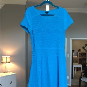 Beautiful turquoise knit dress from Talbots.